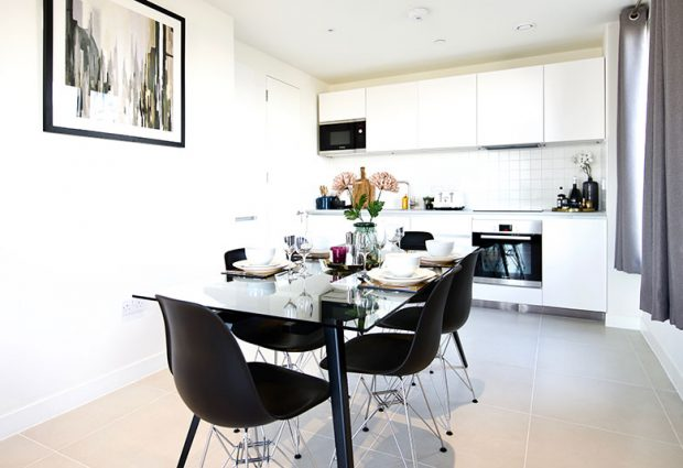 High-spec finishes, integrated appliances and a free-flowing layout; you'll feel at ease in our dining/kitchen spaces