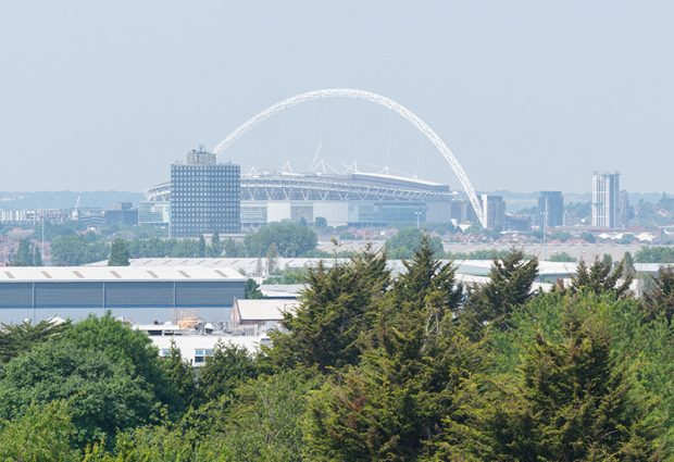 Wembley Stadium, as seen from Rehearsal Rooms!